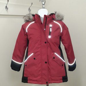 Girl's Canadiana Brand Red Jacket, Age 7-8, NWT